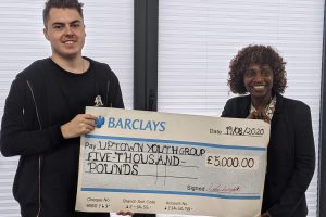 Uptown Youth Group Donation Cheque 2
